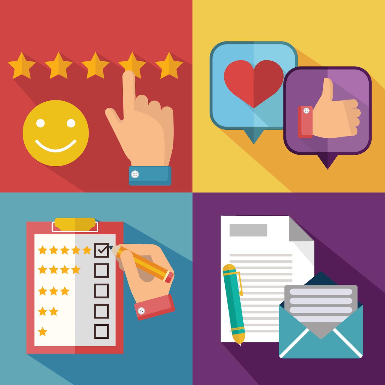 ratings reviews feedback