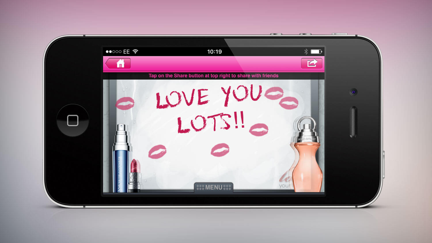 "AVON, ""Love your Lips"" campaign app for iOS"