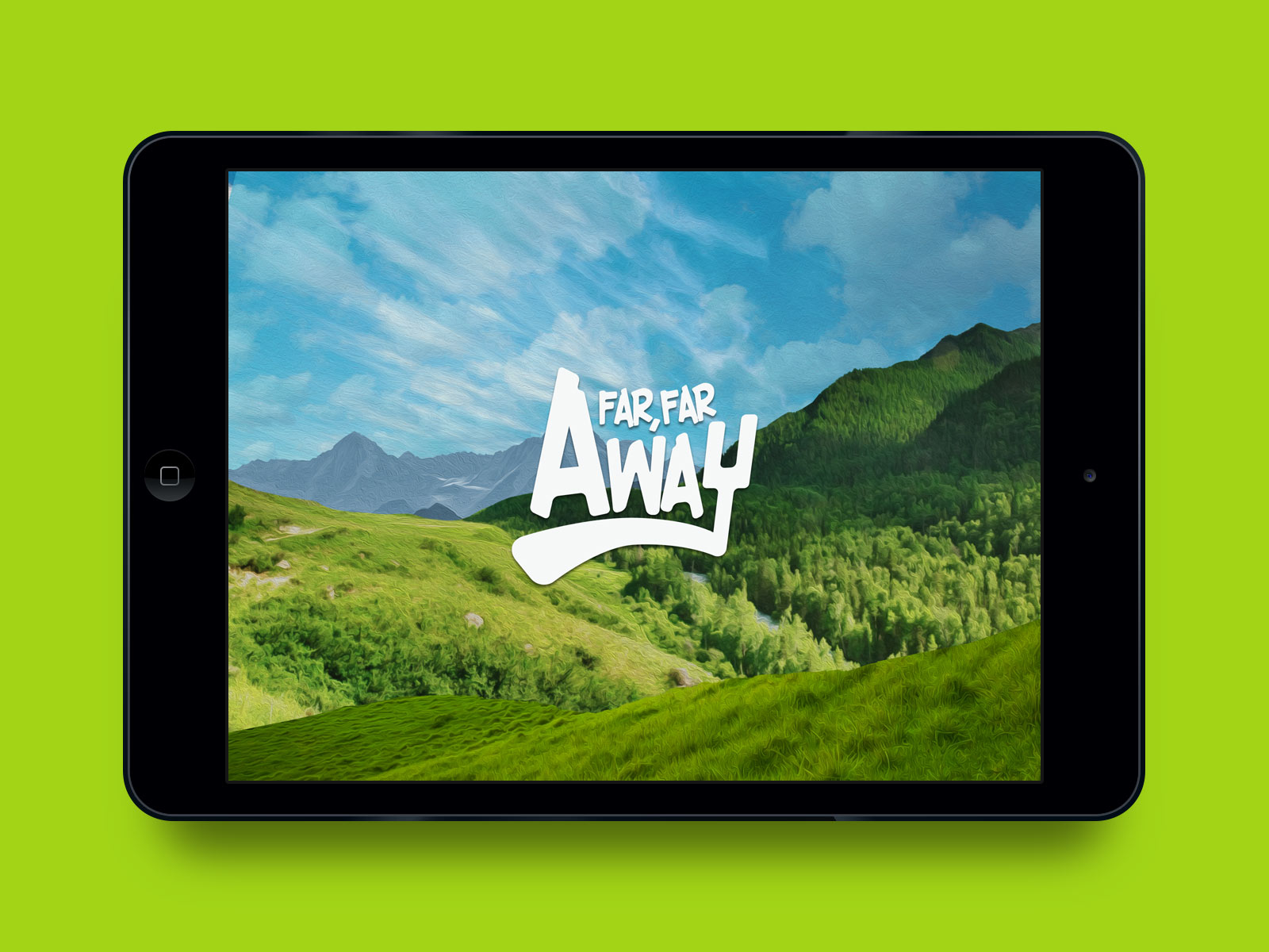 Far Far Away app in iPad. Interactive book and video chat.