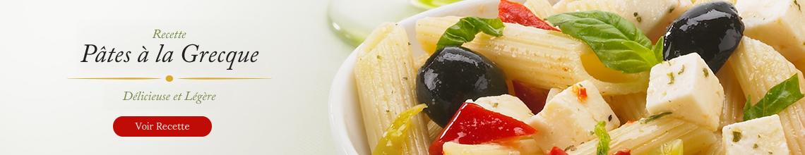 Click to view our Greek à la Pasta recipe.