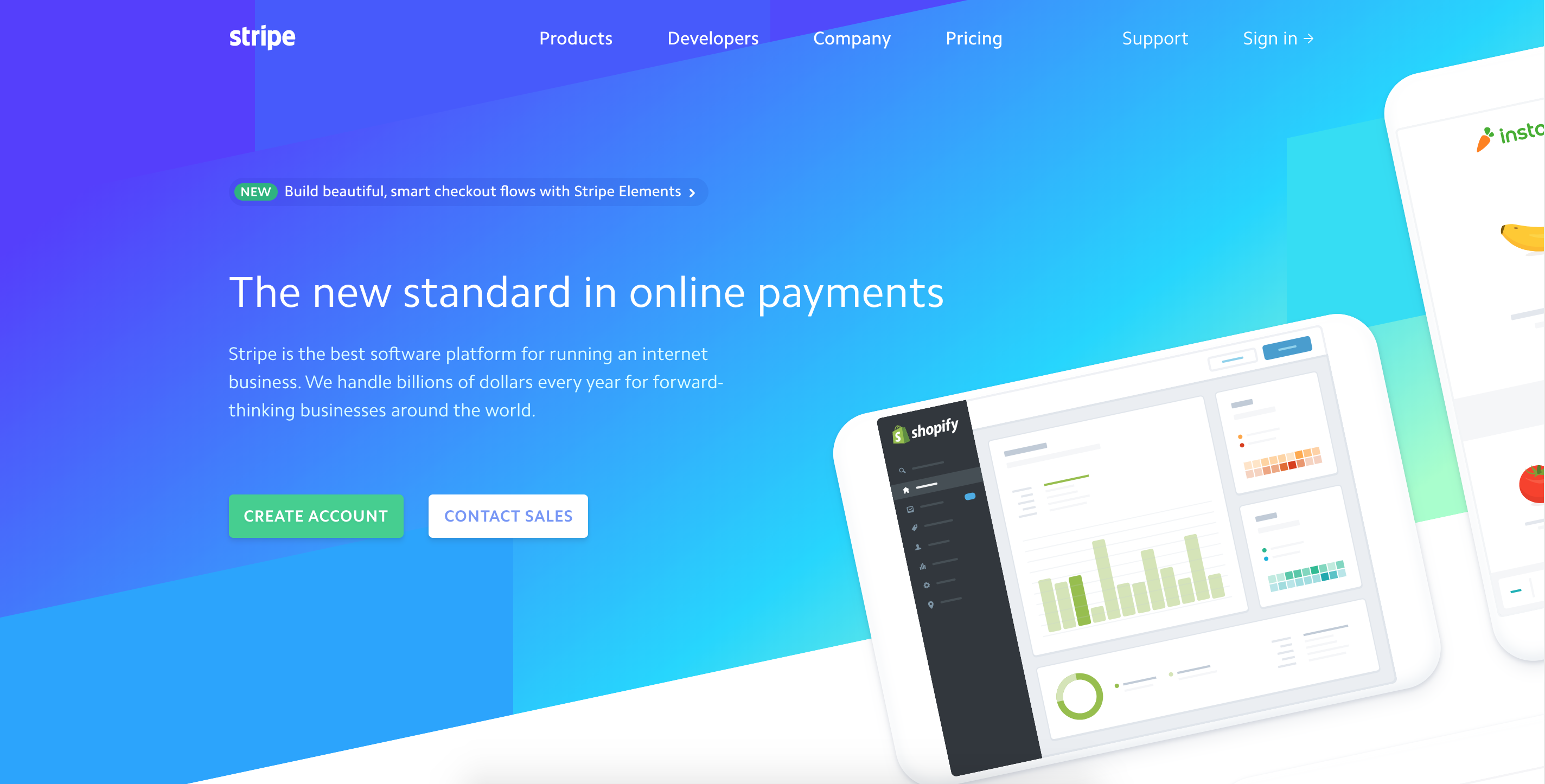 Stripe's website