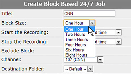 Block based recordings feature