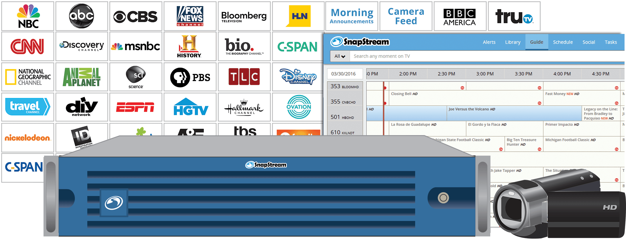 SnapStream EDU: Stream TV to the Classroom