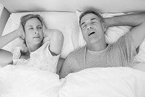 Couple, Snoring Man