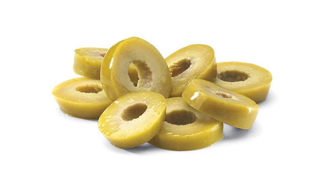 Sliced Green Olives Image
