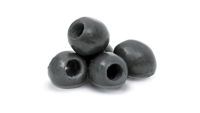 Pitted Black Olives Image