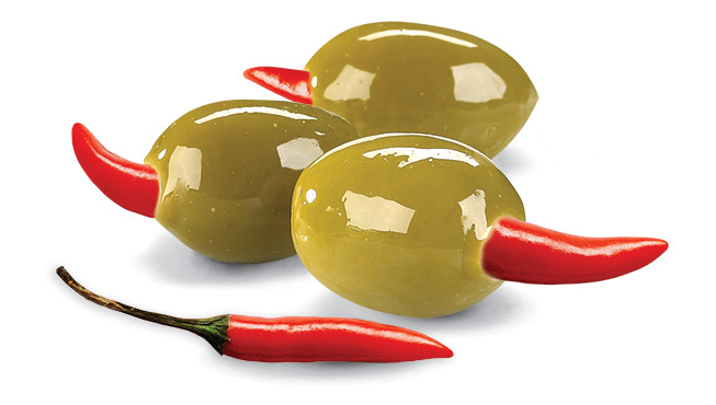 Piri Piri Stuffed Olives Image