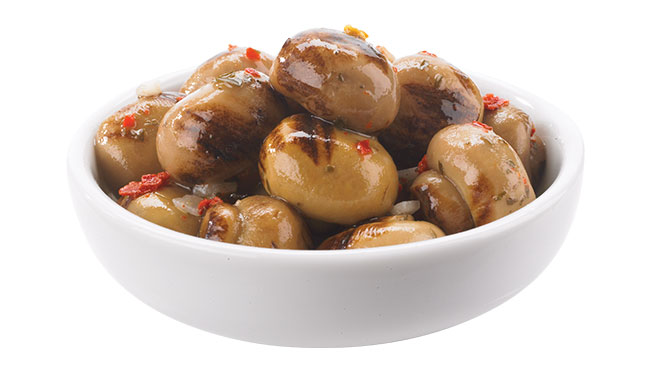 Grilled Button Mushrooms Image
