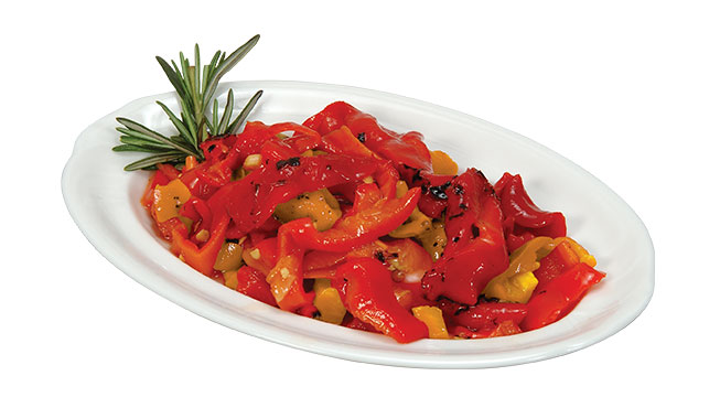 Yellow & Roasted Red Peppers Image