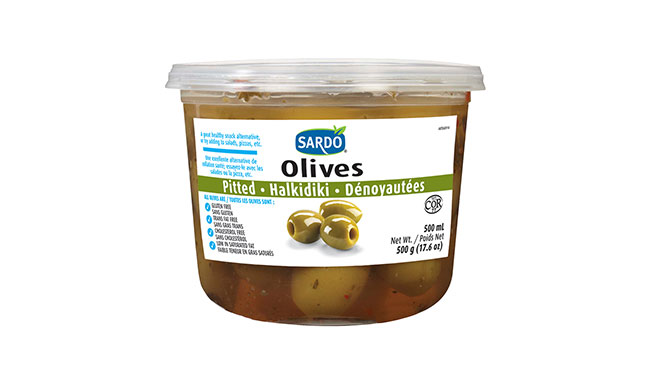 Pitted Green Olives 500 mL