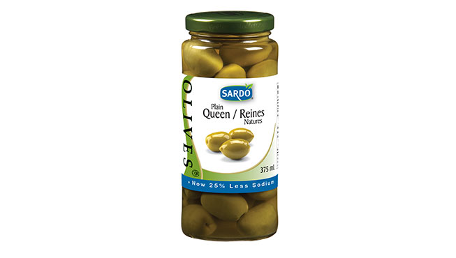 Whole Green Olives 375 mL