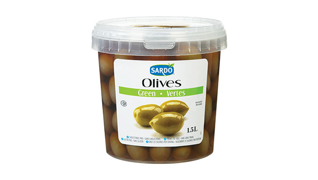 Whole Green Olives 1.5 L