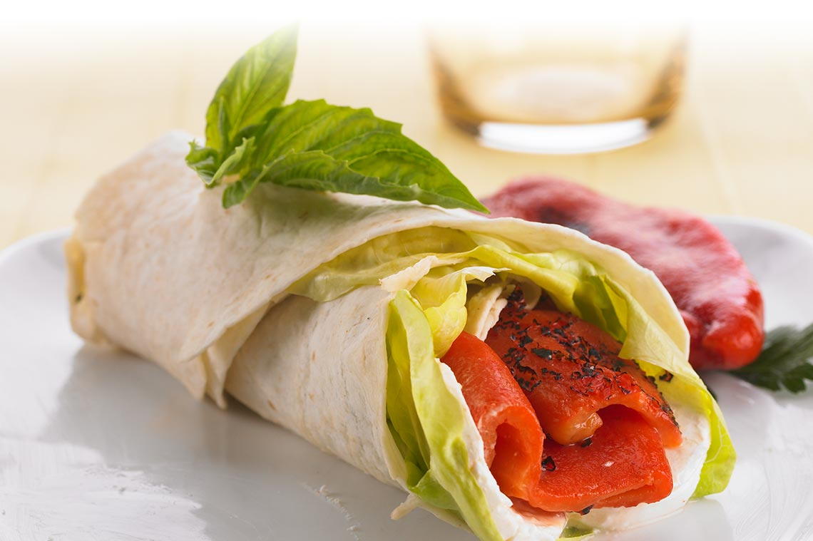 Roasted Pepper Wraps Image
