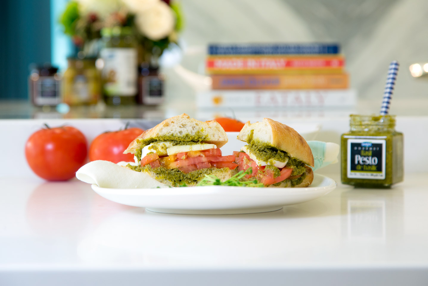 Caprese Pesto Sandwich Image