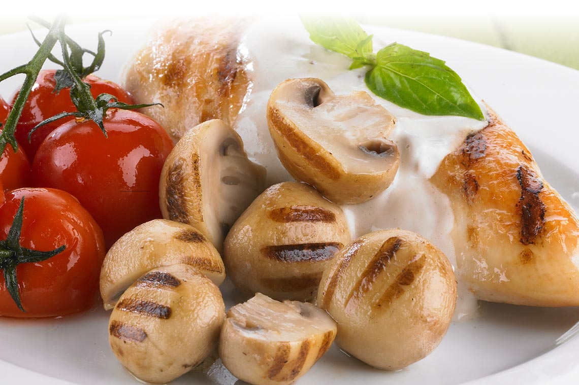 Chicken and Grilled Mushroom Entrée