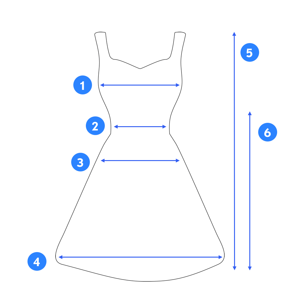 Image of how to measure a dress