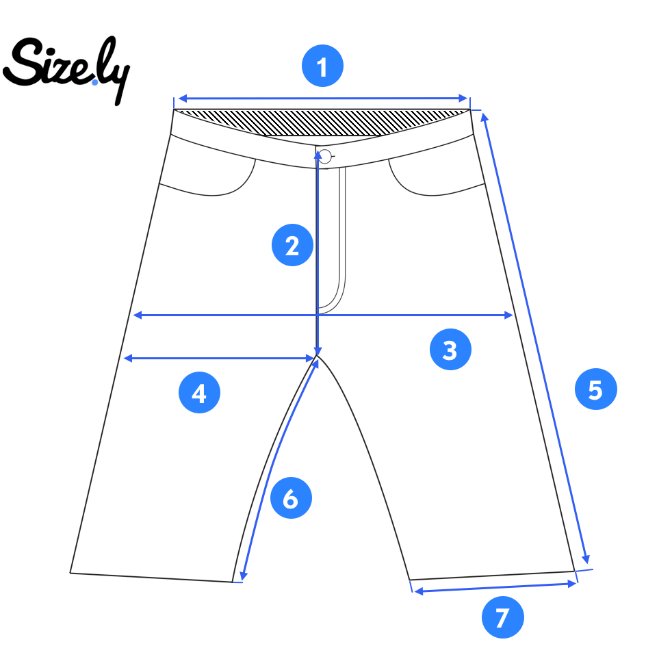 picture of a pair of shorts for taking measurements