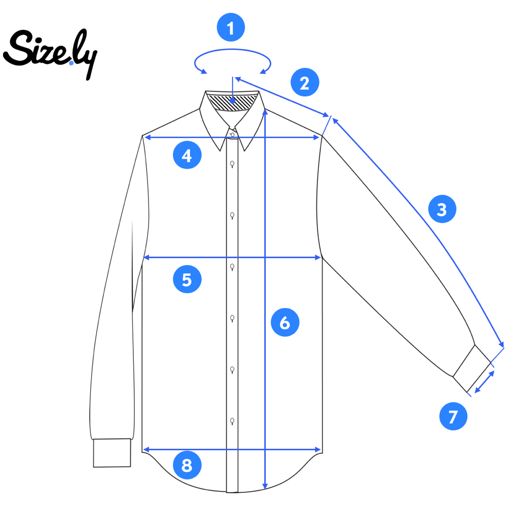 picture of a dress shirt for taking measurements