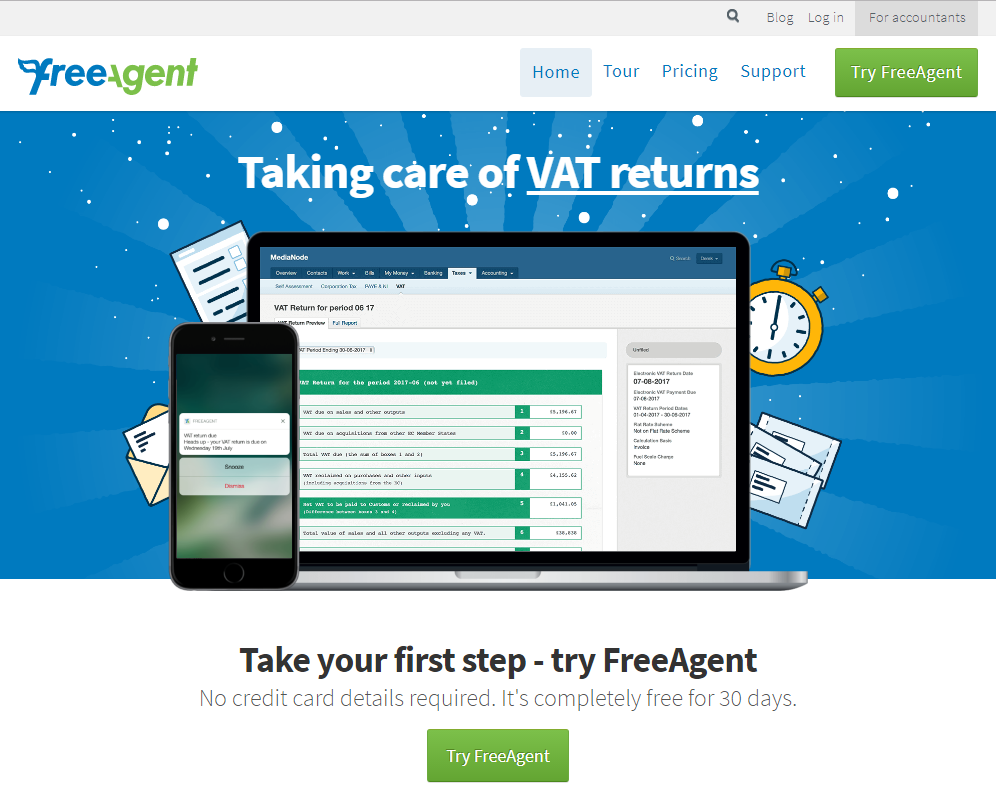 Split Test - FreeAgent - Control