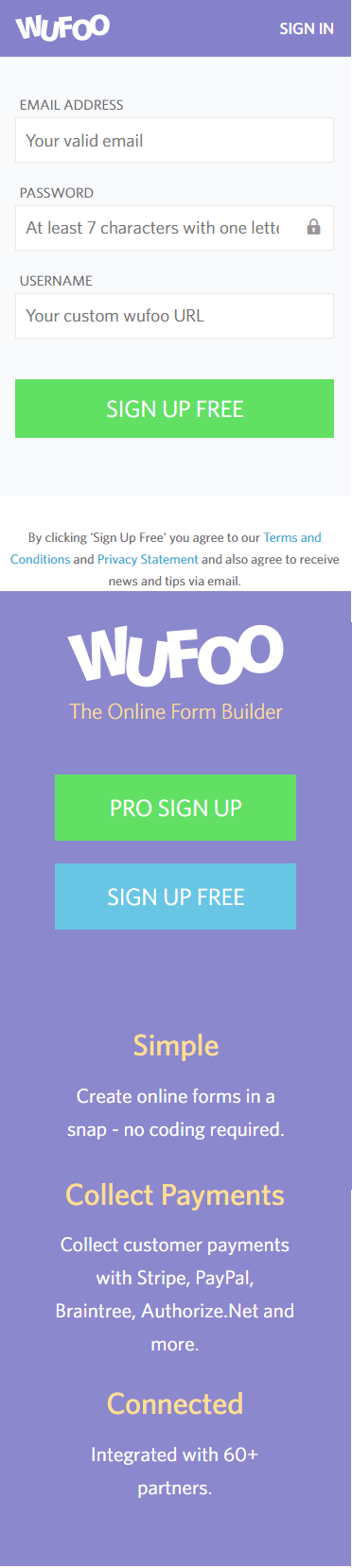 Split Test - Wufoo - Variation #1 Form