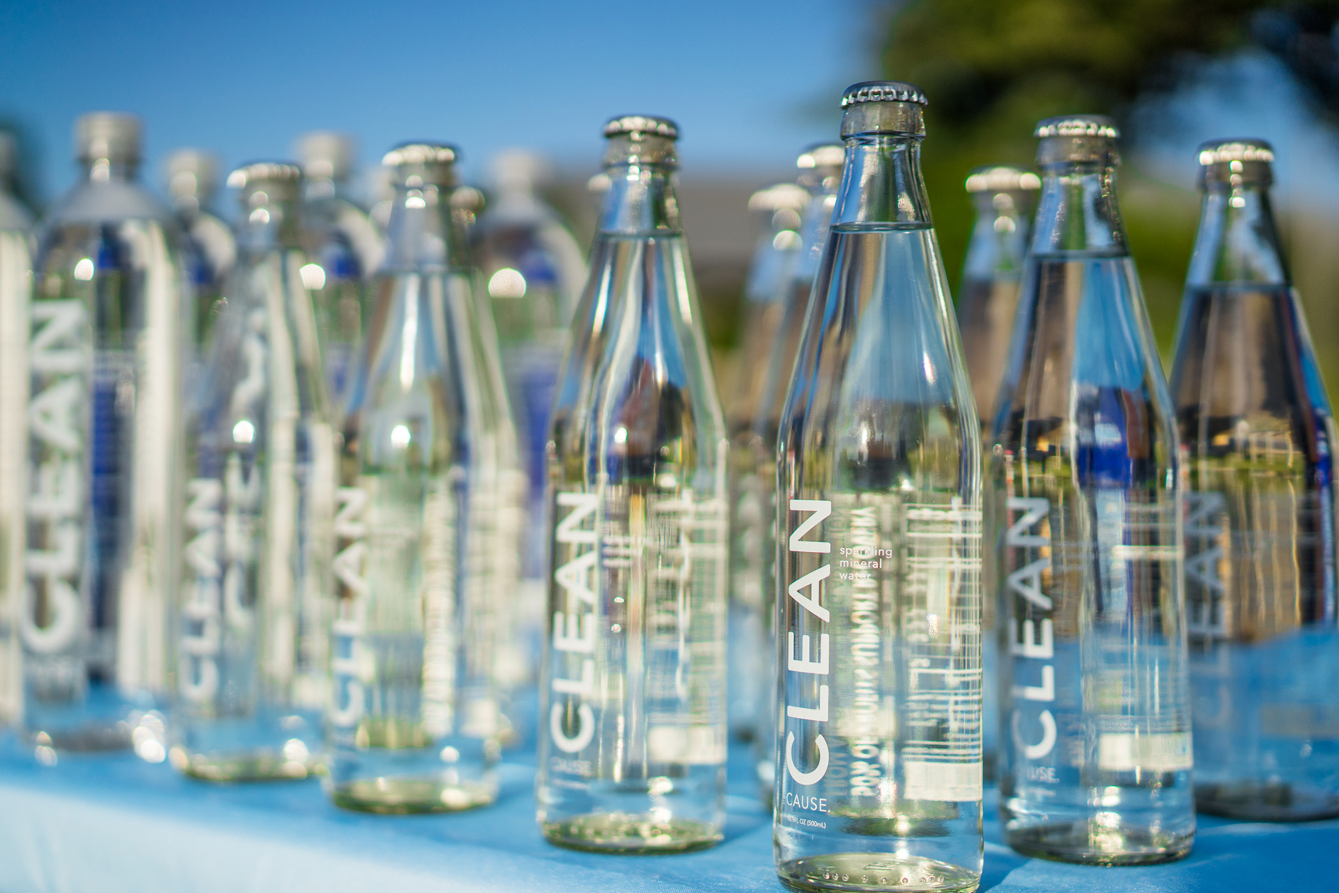 Clean Cause Glass Water Bottles