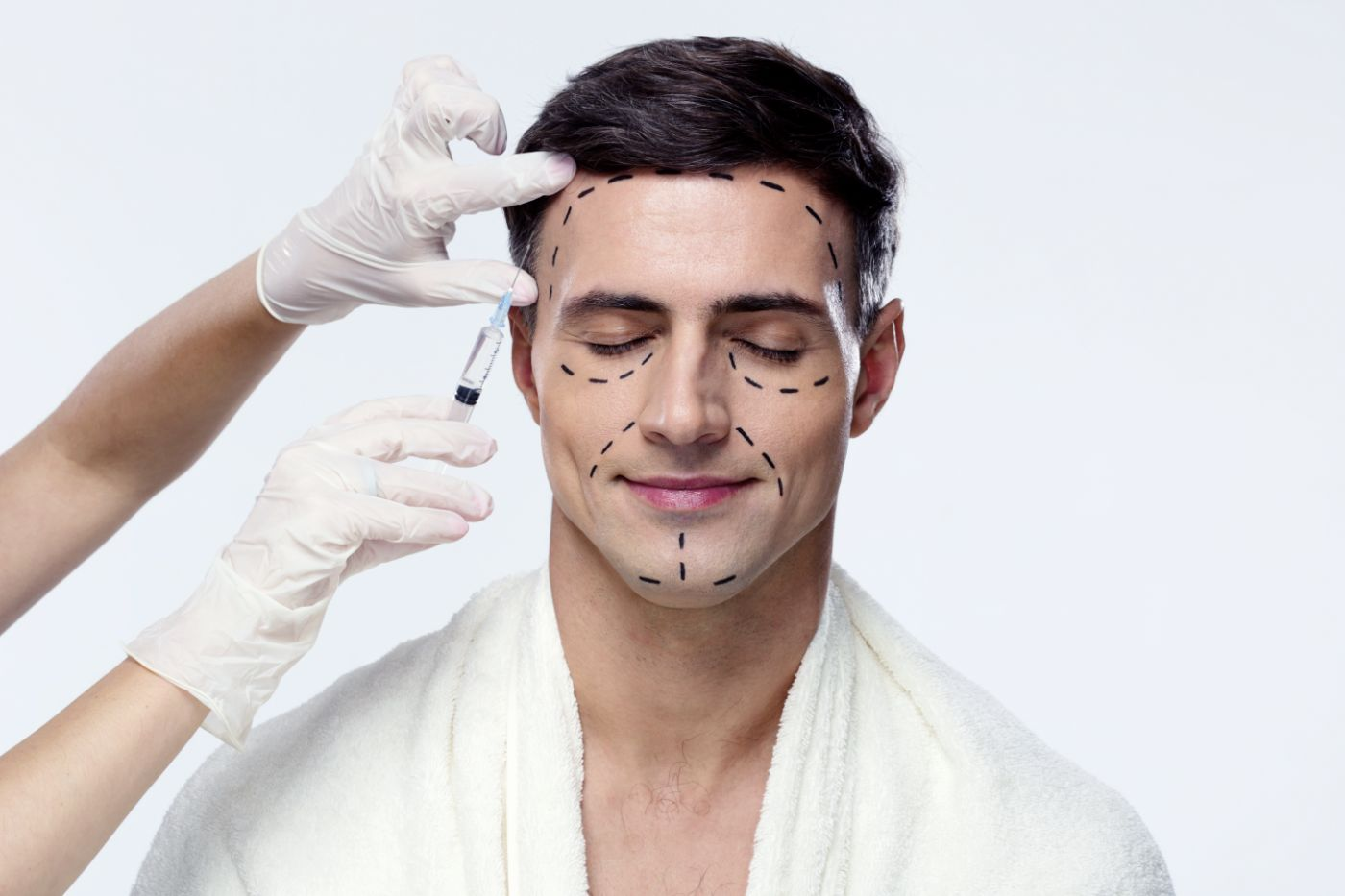 young man skin dermatology