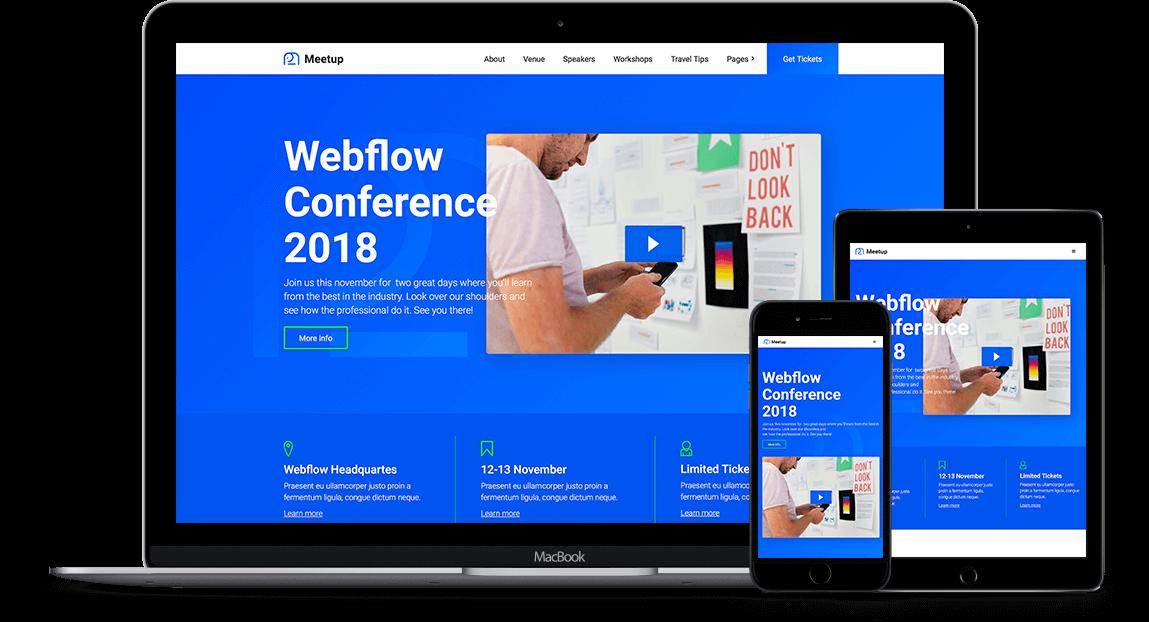 Meetup Event HTML Responsive Website Template - Event website template