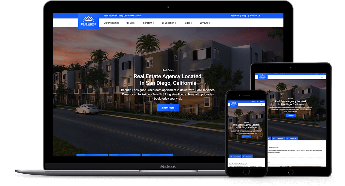 Real Estate Template   Lux Real Estate Html5 Responsive Website Template