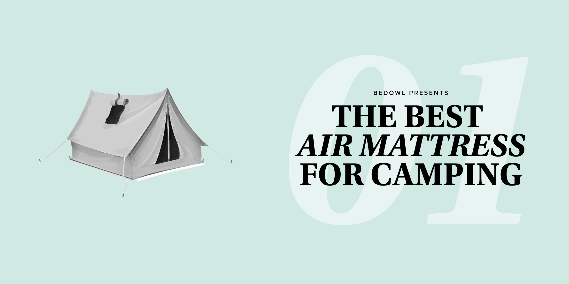 the best air mattress for camping by bedowl.