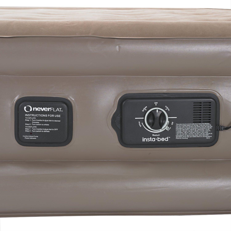 Insta-Bed Raised Air Mattress Never Flat Pump