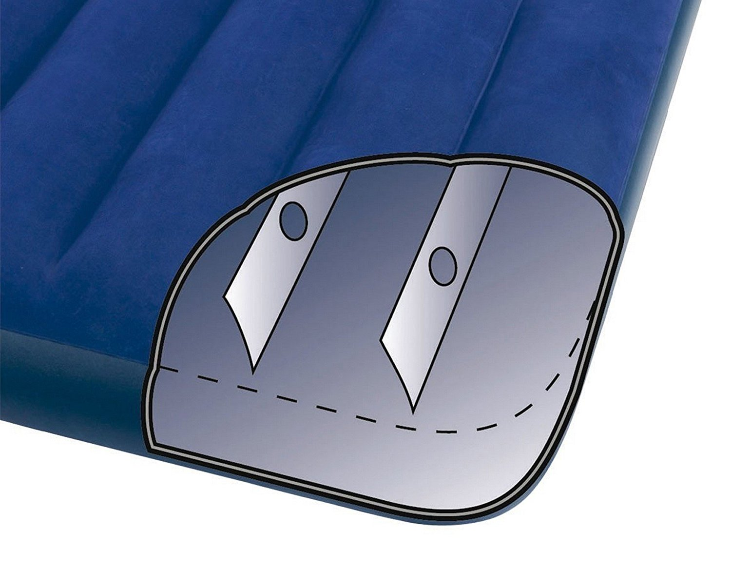 Intex Classic Downy Airbed Diagram