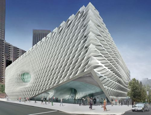 the outside of the broad museum
