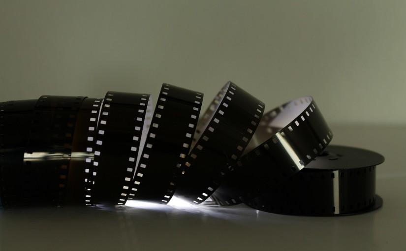 unwound roll of film