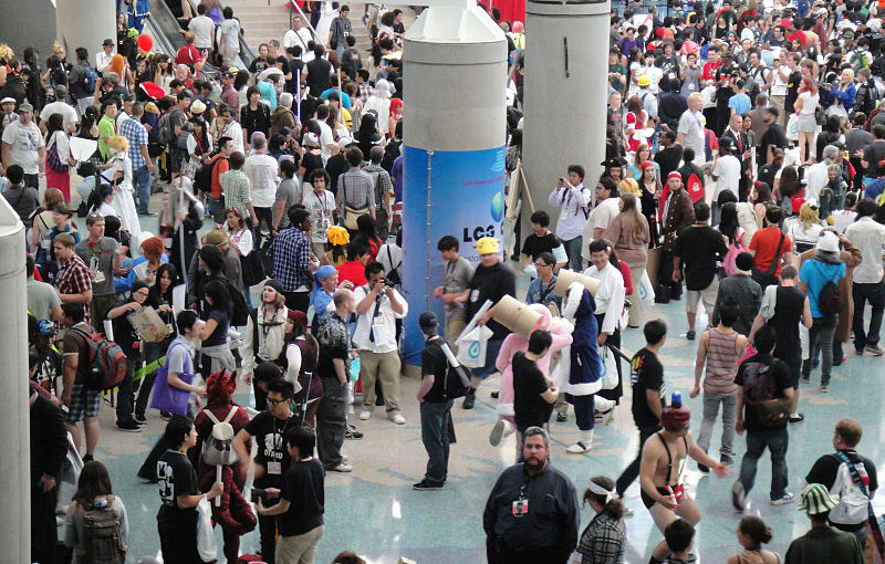 inside the anime expo convention
