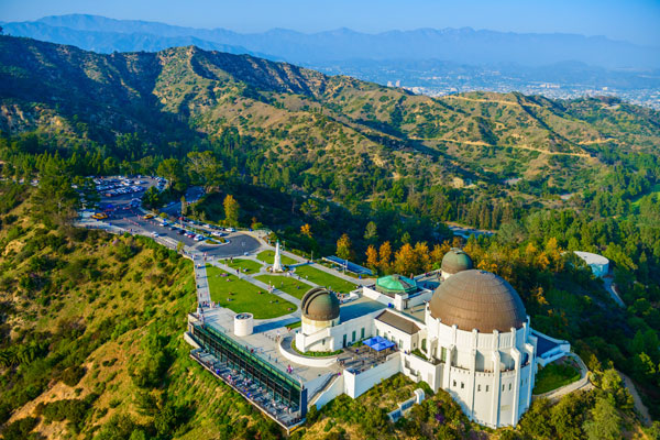 Griffith Park Observatory Aerial View