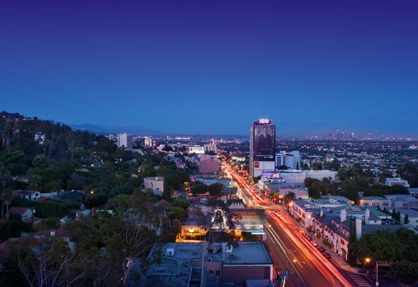 Sunset Blvd Aerial View