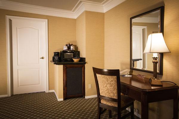 Best Western PLUS Sunset Plaza Balcony Suite Entrance and Desk