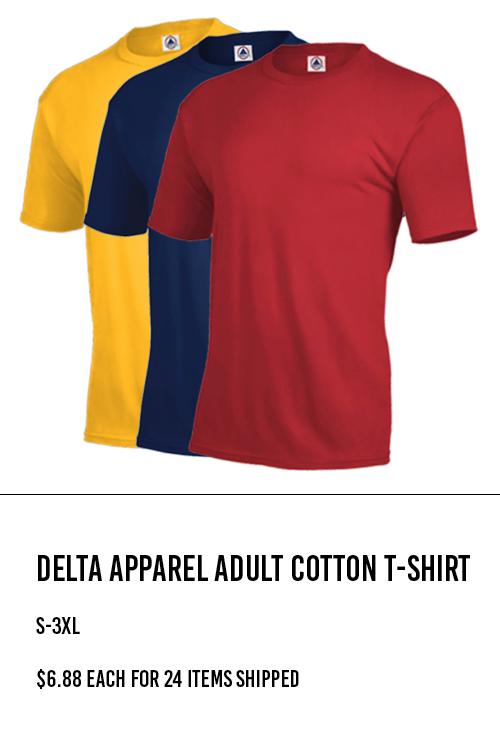 Delta Apparel Adult Cotton T-Shirt