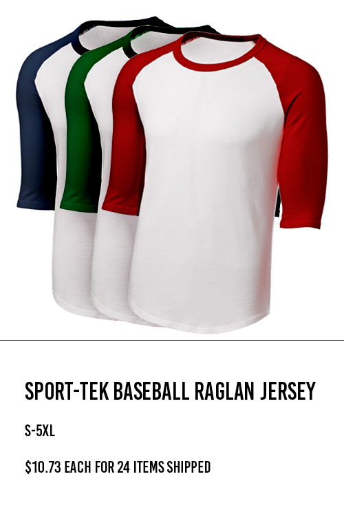 Sport-Tek Baseball Raglan Jersey