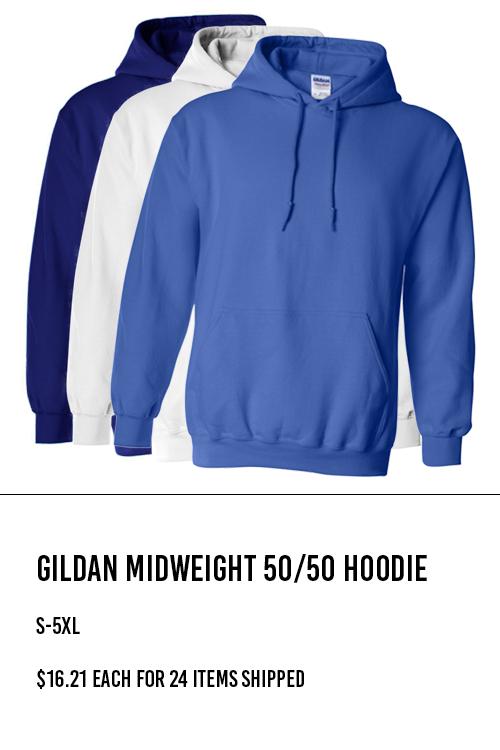 Gildan Midweight 50/50 Hoodie