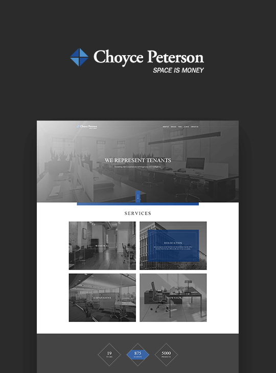 Finsweet Choyce Peterson website branding feature for web design