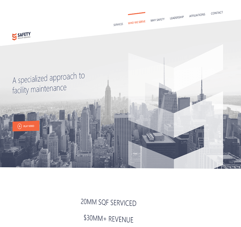 Safety Facility Services finsweet website redesign