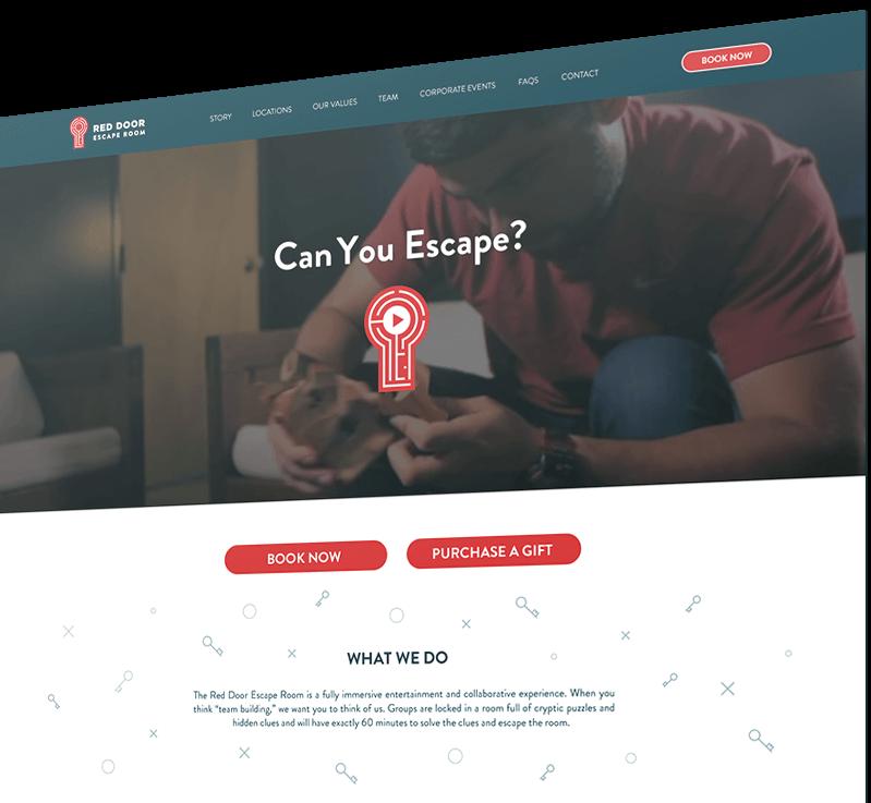 Red door escape room finsweet website redesign
