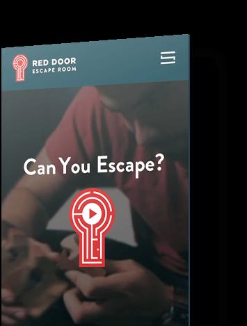 Red door escape room finsweet mobile website redesign