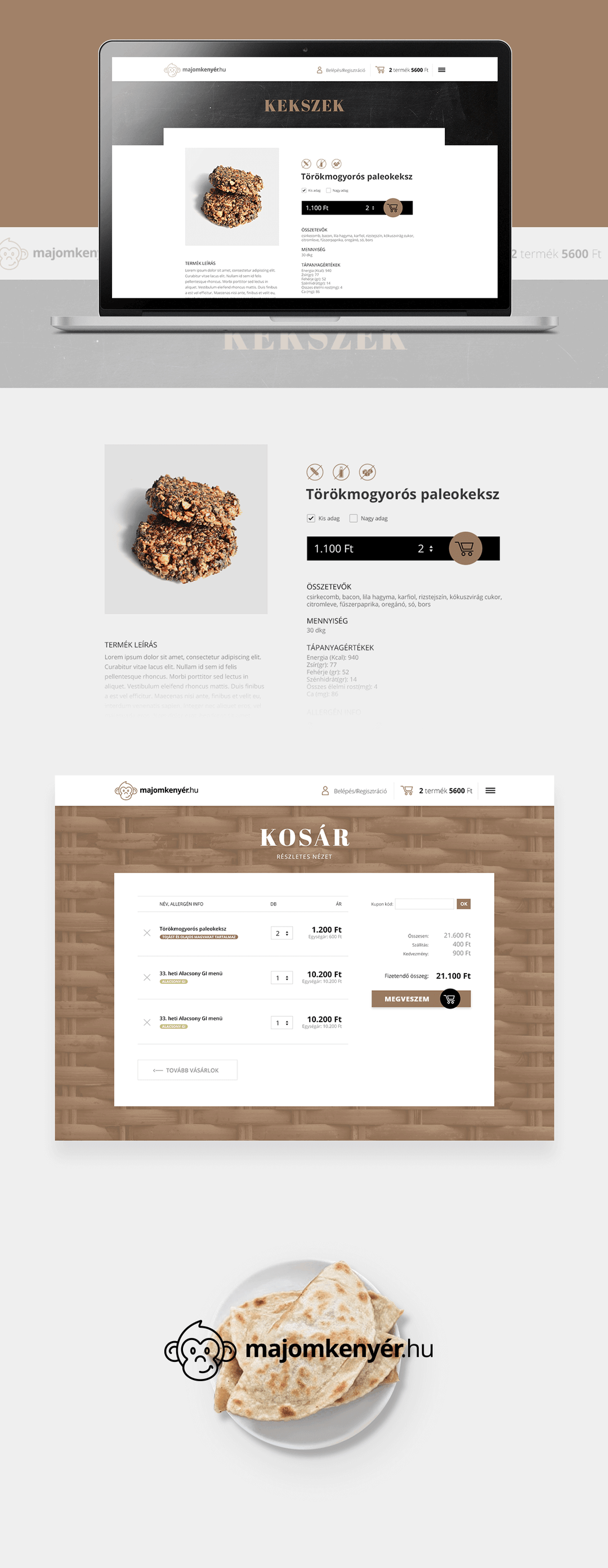 Majomkenyer branding and website design by Finsweet