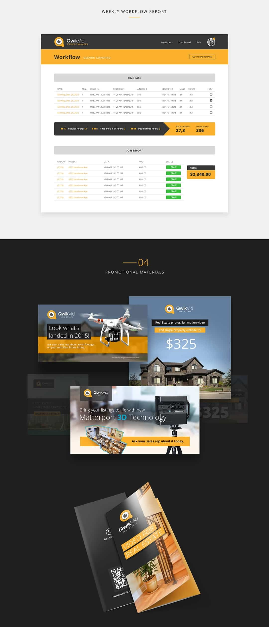 Qwikvid branding design and website by Finsweet