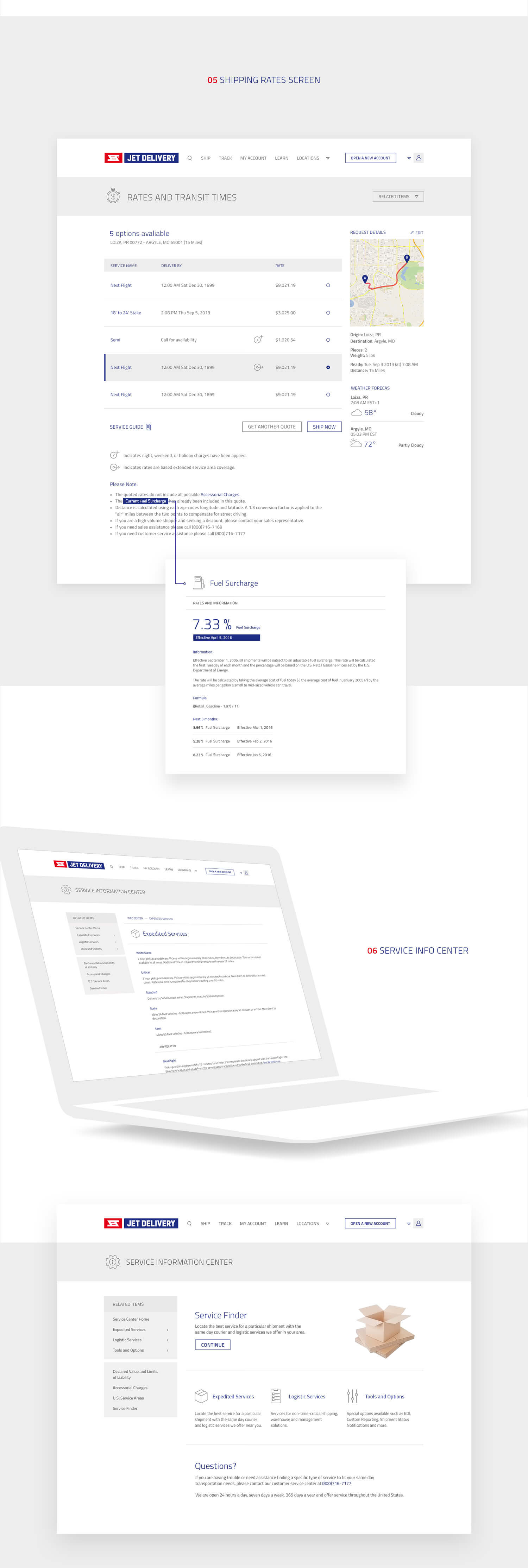 Jet Delivery service website design and branding by Finsweet