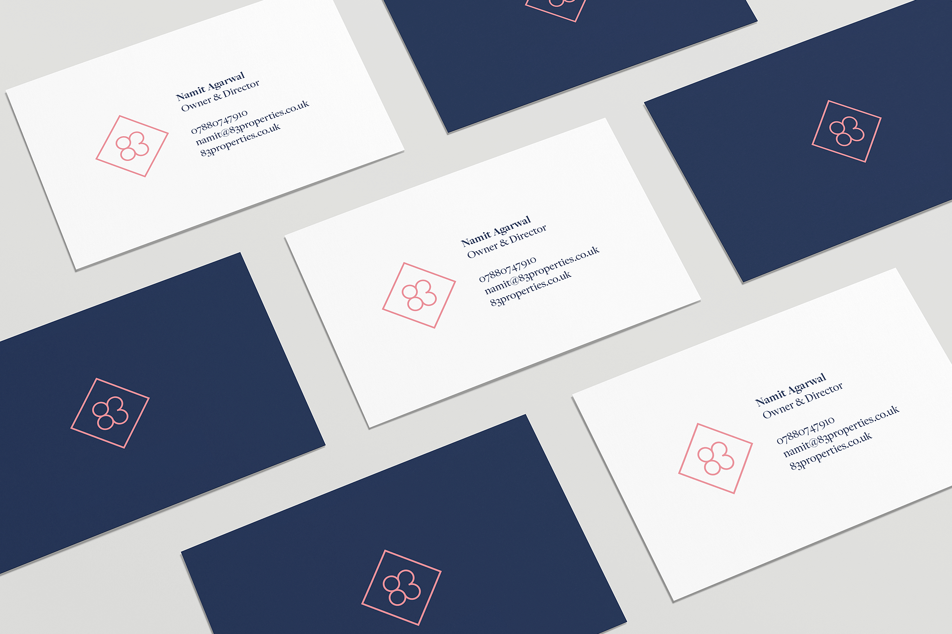 83 Properties Business Card Branding
