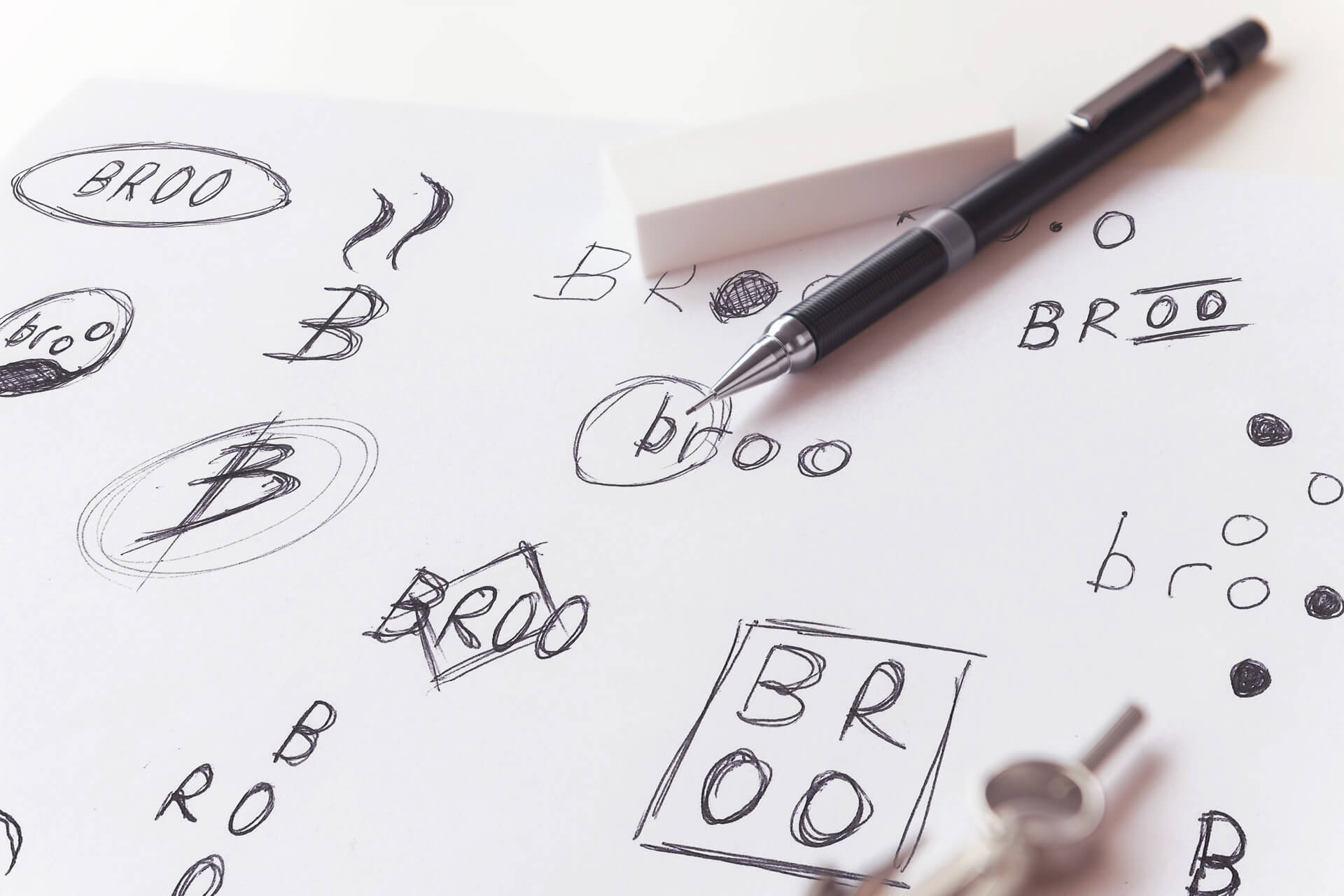 Brand Identity Sketches for Broo