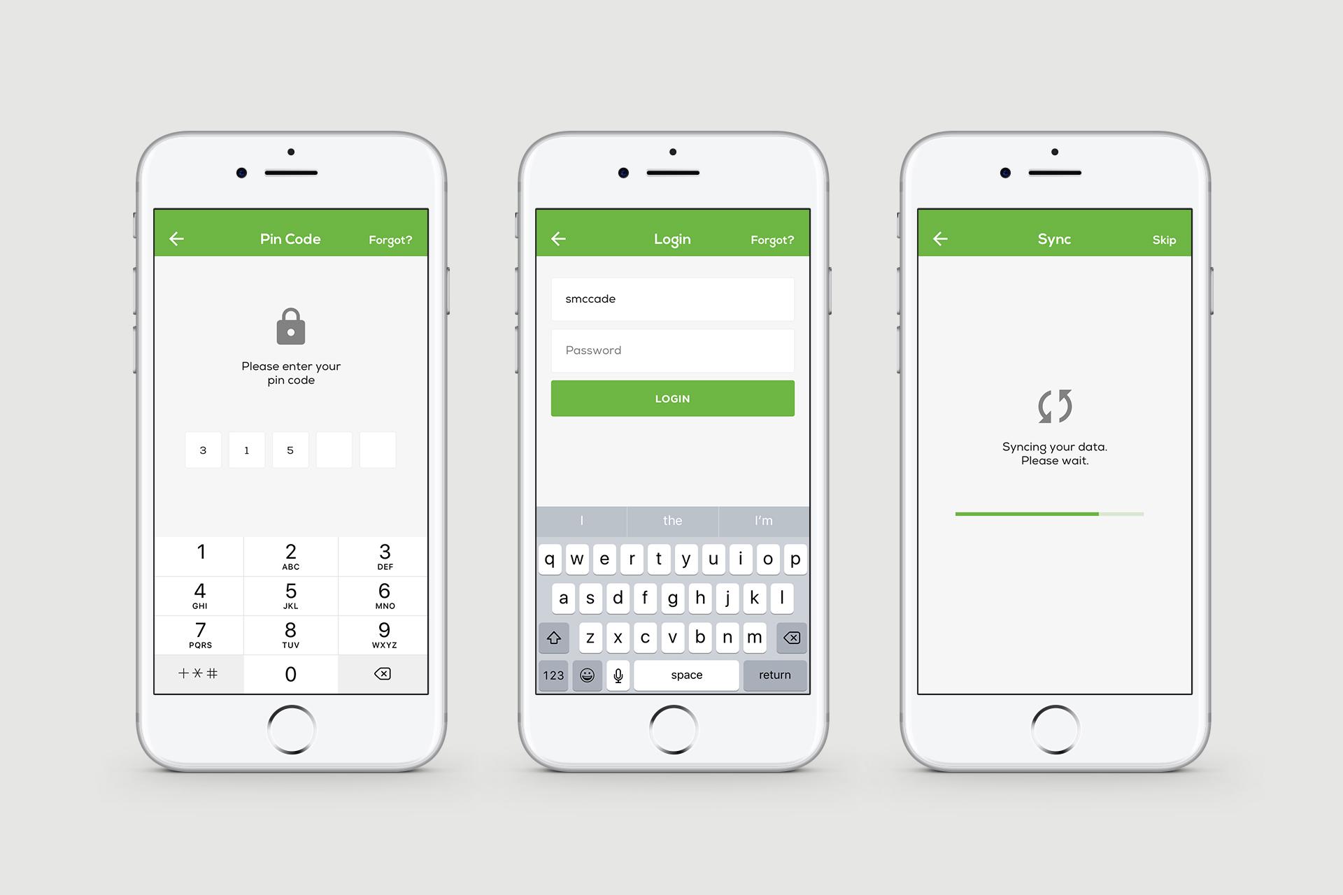 Clik Jobs User Interface (UI) Mobile Designs